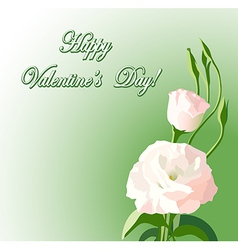 Beautiful flowers - background for valentine day vector
