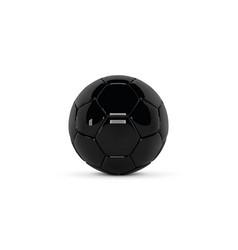 black leather ball gloss soccer ball on white vector image