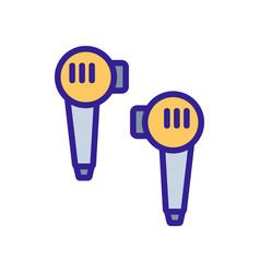 Caps wireless headphones icon outline vector