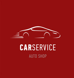 Car service logo template auto dealer shop emblem vector