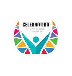 Celebration festival - concept business logo vector
