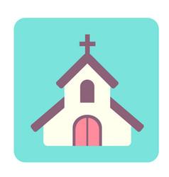 Chapel flat icon vector