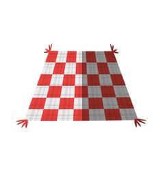 checkered tablecloth picnic shadow vector image