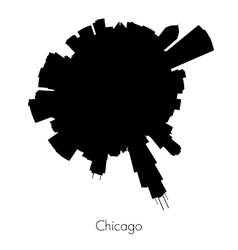Chicago circular skyline vector image
