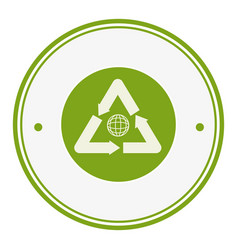 circular frame with recycle symbol vector image