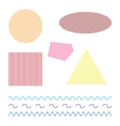 colored simple geometric shapes on white vector image