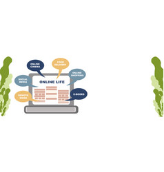 concept life online banner you can get vector image