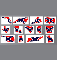 Confederate flag maps vector