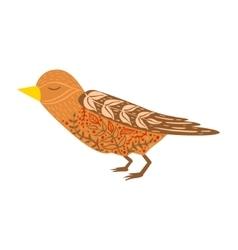 Cuckoo bird relaxed cartoon wild animal vector