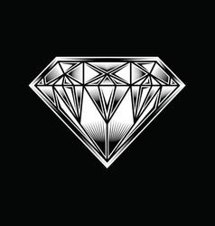 Diamond black bg vector