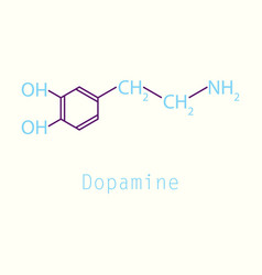 Dopamine icon vector