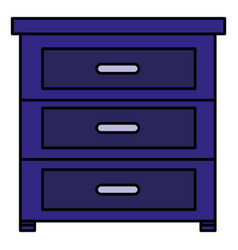 Drawer wooden house icon vector