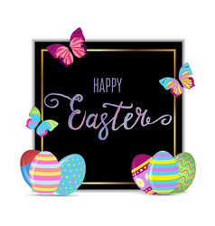 easter banner background template with beautiful vector image