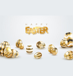 easter holiday white background with realistic vector image