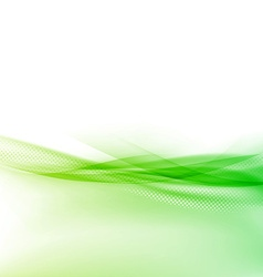 Ecology modern green swoosh wave border vector