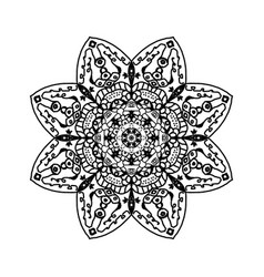 eye mandala projects 3 vector image