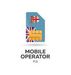 Fiji mobile operator sim card with flag vector