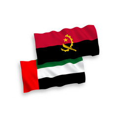 Flags united arab emirates and angola vector