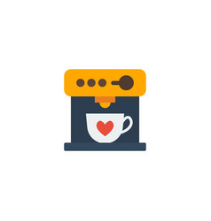Flat icon espresso dispenser element vector