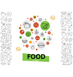 food and drinks template vector image