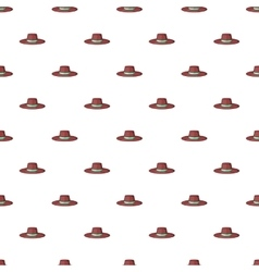 Gentleman hat pattern cartoon style vector