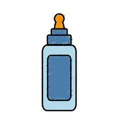 Glue bottle icon vector