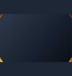 Gold banner design with minimalist modern style vector