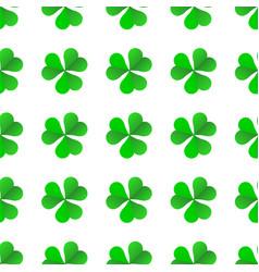 green irish clover for st patricks day seamless vector image