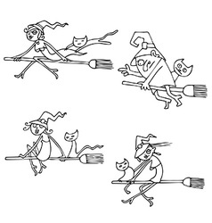 Halloween Witches pack vector