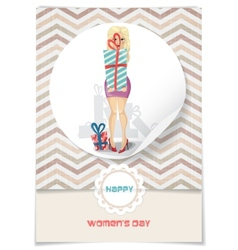 Happy Womens Day March 8 vector image