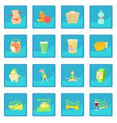 Healthy lifestyle icon blue app vector