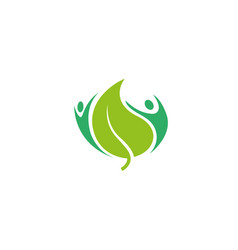 healthy natural body human care logo vector image