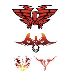 hoenix emblems vector image