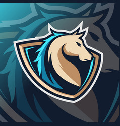 Horse mascot logo esport vector