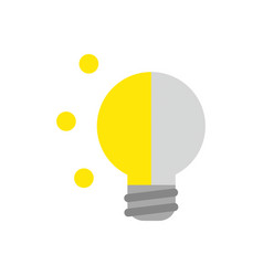 icon concept of glowing and grey light bulb vector image