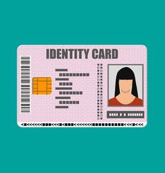 Id card icon identity card national card vector