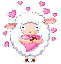 In love sheep vector