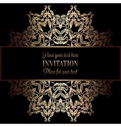 Invitation decorative golds 49 vector