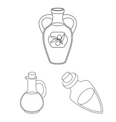 Isolated object of food and bung logo set of foo vector