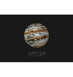 Jupiter logo Planet logo Cosmic logo Space logo vector image