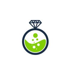Lab diamond logo icon design vector