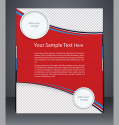 Layout business flyer magazine cover vector
