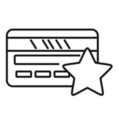 Loyalty card icon outline style vector
