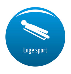 luge sport icon blue vector image