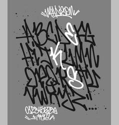 marker graffiti font handwritten typography vector image