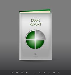 Modern abstract brochure as book Football theme vector image