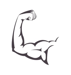 muscular arm with a clenched fist vector image