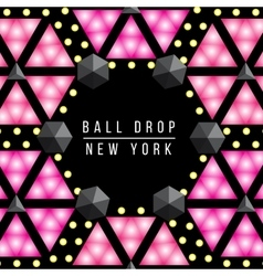 New Year Ball drop in Times square New York vector image
