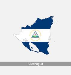 nicaragua map flag vector image