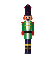 Nutcracker christmas toy character decoration vector